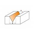 CMT Fréza na V-drážku 60° D12,7x10 60° S=8mm