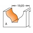 CMT profilová fréza čelná R6,4 D19x11 S=8mm HM