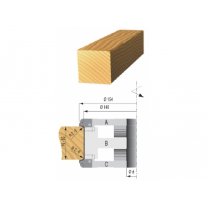 Zarovnávacia fréza nastastaviteľná B 140x50x40 2z OCEĽ
