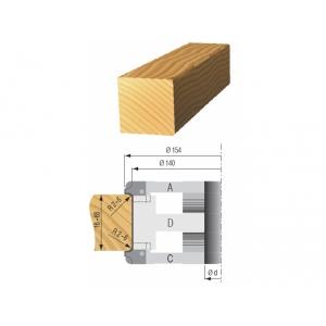 Zarovnávacia fréza nastastaviteľná D 140x60x40 2z OCEĽ