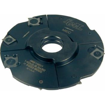 F602 Nastaviteľná drážkovacia fréza MAN - D150x4-7,5 d30 Z4+4 OCEĽ