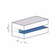 F602 Nastaviteľná drážkovacia fréza MEC - D140x5-9,5 d30 Z4+4 OCEĽ