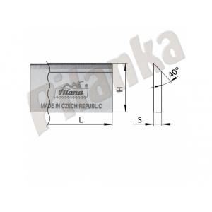 Hobľovací nôž DS 160x35x3