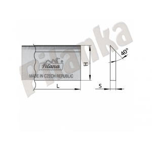 Hobľovací nôž DS 1010x30x3